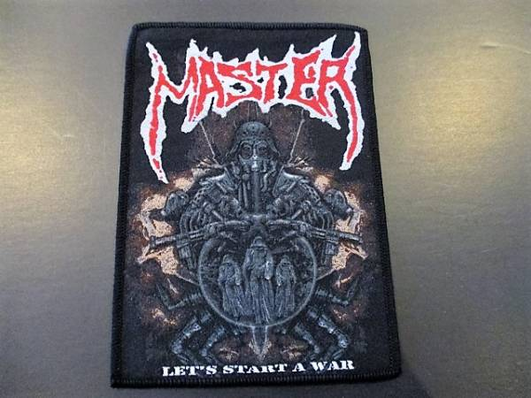 MASTER 刺繍パッチ ワッペン let's start a war / death slayer