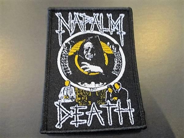 NAPALM DEATH 刺繍パッチ ワッペン 黄 / carcass terrorizer