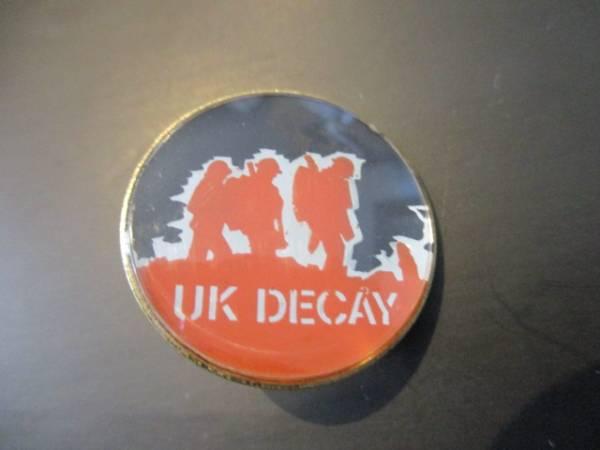 UK DECAY メタルピンバッジ ヴィンテージ / killing joke amebix