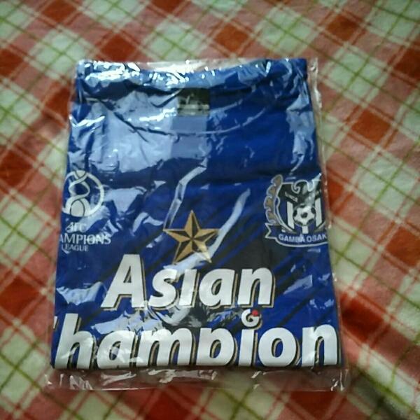 新品☆ガンバ大阪ACL優勝記念Tシャツ 2008 グッズの画像