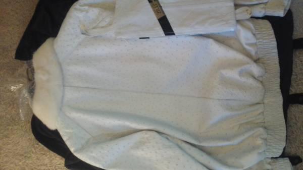 最高級・ZILLI・ジリー・オーストリッチブルゾンホワイト・LLサイズ・ミンクファー未着用品・オーストリッチキャップ付きmade inフランス