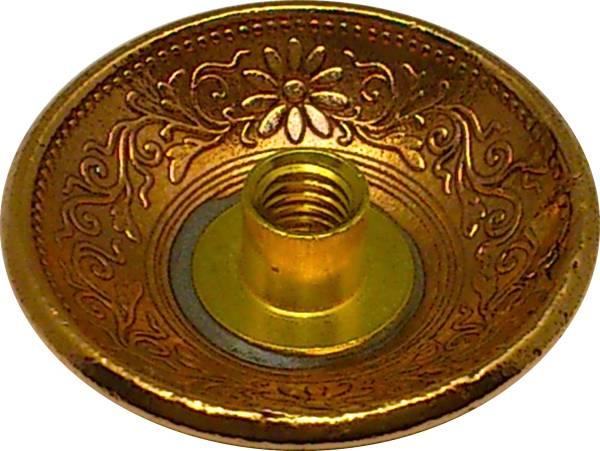 アウトレット コンチョ 桐 1銭 青銅貨 A ネジ式 1個_画像2