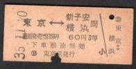 東京−新子安・横浜間(東京駅発行3等)