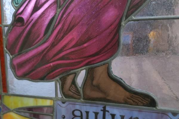 希少♪豪華特大♪イタリア SANTE PIZZOL ステンドグラス/窓/建具_画像3