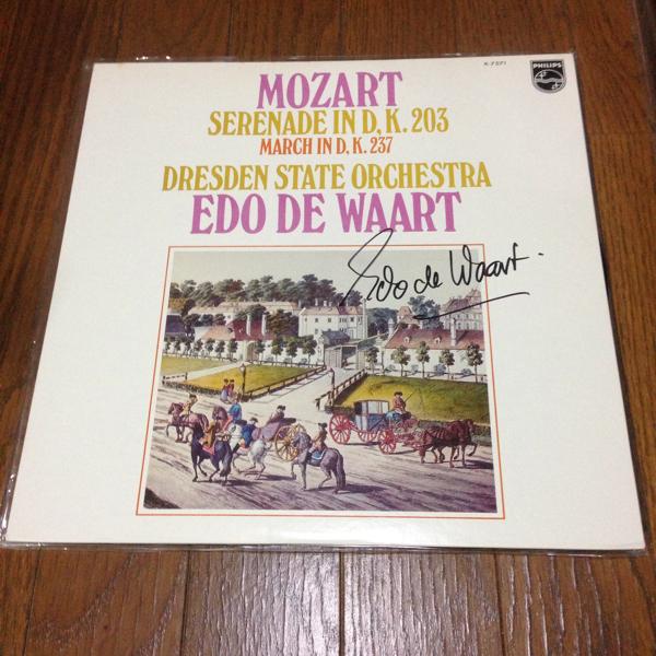 エド・デ・ワールト Edo de Waart 直筆サイン入りレコード 国内盤
