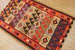 アゼルバイジャンラグ☆手織り☆オールドキリム☆玄関サイズ☆101x154cm/GH806