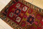 美品☆アンティークラグ☆トルコ☆ヤストゥクフェイス☆手織り絨毯☆51x105cm/GH901