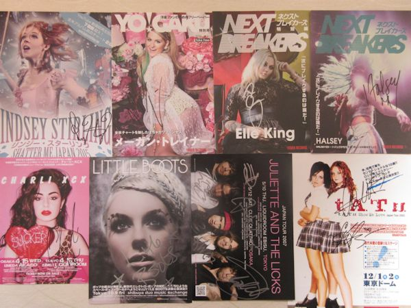 ◇t.A.T.u+ホールジー+Jルイス他 直筆サインチラシ8枚!