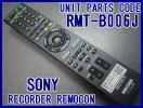 ●RMT-B006J ソニーリモコン新品 BDZ-RX105 BDZ-RX55 BDZ-RS15 BDZ-RX35 専用リモコン 新品SONY部品純正(新品パッケージ箱付き)即決