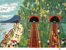 天才画家 山下清 リトグラフ「トンネルのある風景」真作保証
