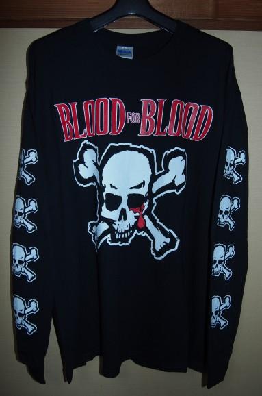 ★BLOOD FOR BLOOD 長袖Tシャツ NYHC MADBALL LEEWAY HATEBREED BIOHAZARD ALL OUT WAR