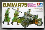 S タミヤMM16 1/35BMW R75サイドカー軍用オートバイ プラモ