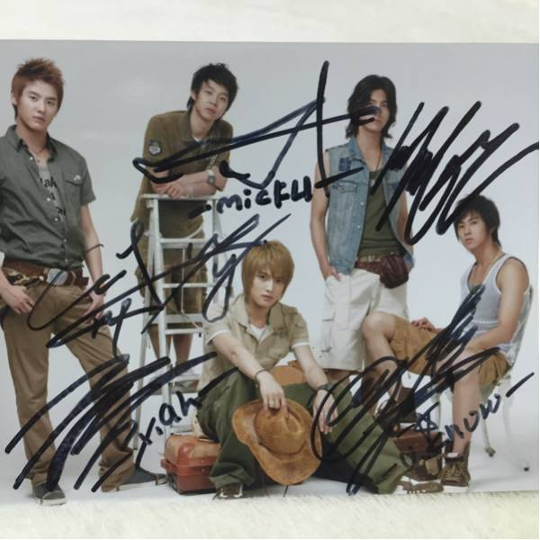 韓国★東方神起 直筆サイン入り写真 a★JYJ ライブグッズの画像