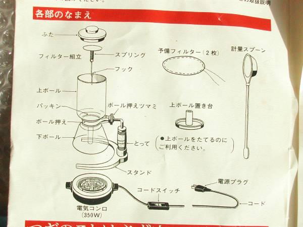 東芝サイフォンコーヒーメーカーHCS-33/HCS-45BM/未使用品!!!超レア!!!送料無料_画像3