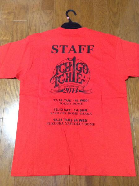 希少 JYJ DOME TOUR 2014 「ICHIGO ICHIE」LIVE STAFF T-シャツ