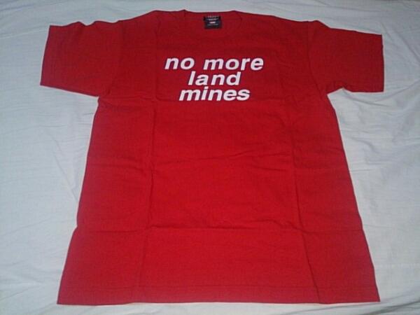 NO MORE LANDMINES Tシャツ 赤 Lサイズ ポール マッカートニー