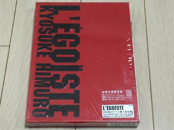 切手可◆中古◆美品◆氷室◆DVD◆L'EGOISTE★初回生産限定盤