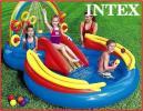 INTEX インテックス レインボーリング プレイセンター プール ファミリープール 滑り台付 水遊び 大型プール ビニールプール