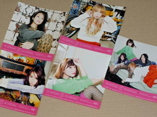 SCANDAL BEST ALBUM 通常盤 封入特典 ステッカー 全5種 HARUNA MAMI TOMOMI RINA