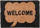 不二貿易 ミニコイヤー マット ウェルカム (サイズ:35x25cm) 玄関マット 天然素材 屋外マット 30378
