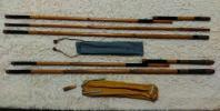 ☆中古☆竹製へら竿用竿掛け3本物と難有りの2本物の玉の柄セット『夕鈴』