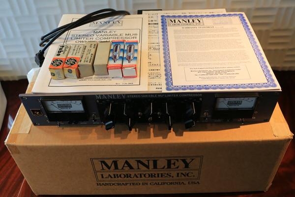 交渉可 MANLEY Stereo Variable-MU Mastering Version w/MS & T-Bar Option TONEFLAKE Custom / vari mu マンレイ API SSL Neve Avalon_画像3