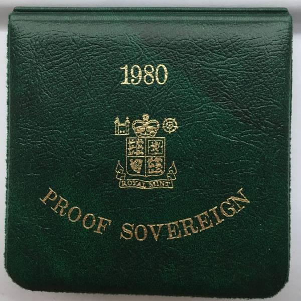 値下げ!イギリス 1980 ソブリン 金貨 プルーフ FDC ヤングエリザベス 箱、証明書付き_画像3