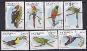 ニカラグア1981#1125−鳥(キツツキ・オーム他)7完 済 $2.20