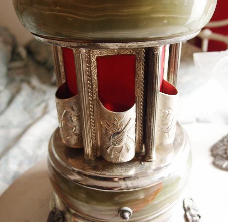 ★REUGE リュージュ イタリア製 大理石 アンティーク オルゴール 葉巻入 天使 リップホルダー_画像2