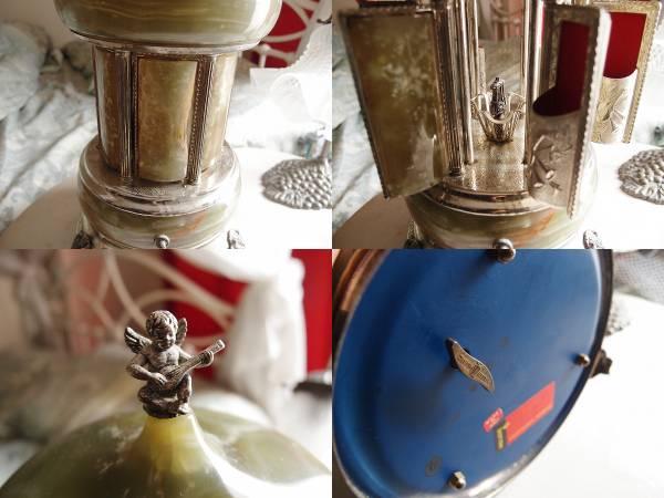 ★REUGE リュージュ イタリア製 大理石 アンティーク オルゴール 葉巻入 天使 リップホルダー_画像3