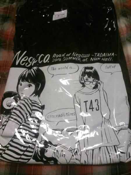Negicco × 江口寿史 Tシャツ 黒 M 未使用品 ネギッコ