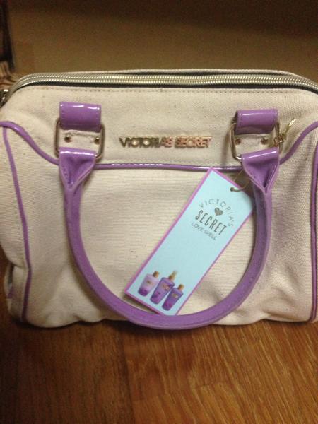 ヴィクトリアシークレット バッグ 紫 VICTORIAS SECRET