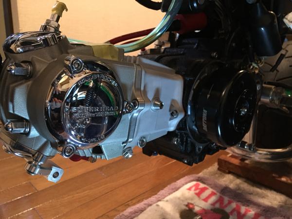 快調!モンキー武川138ccボアアップエンジン スーパーヘッド4バルブ_画像2