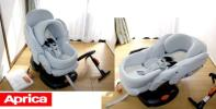 ◆Q◆美品 Aprica 360度回転チャイルドシートベッド◆サーモ◆新生児