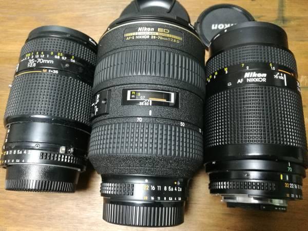 レンズ ニコン 3個セット/NIKKOR 70-210mm/28-70mm/35-70mm・ジャンク