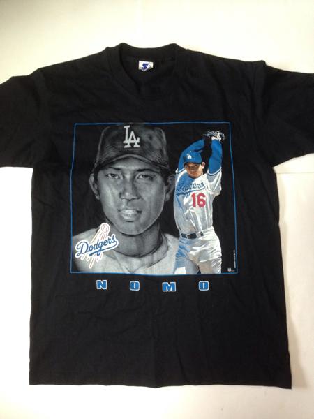 新品:デッド■野茂英雄:NOMO 16 ドジャース:Dodgers スターター STARTER製 USA製 90s Tシャツ メジャーリーグ 16 MLB グッズの画像