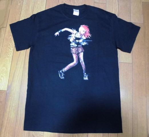 ◆F24◆CYNDI LAUPER シンディー・ローパー 2015年日本ツアー限定Tシャツ M 黒 ロックT 状態良好