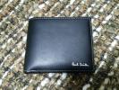 【未使用】ポールスミス/paul smith 二つ折り財布 ブラック【箱付】