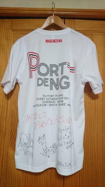【当選品】NGT48研究生サイン入りTシャツ ライブグッズの画像