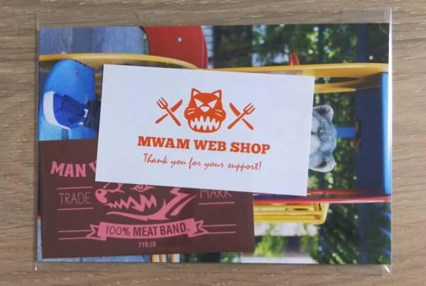 MAN WITH A MISSION/マンウィズ/MWAM 特典ポストカード&ステッカー スペアリブ ピンク