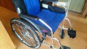 護理學,護理 - kadokura カドクラ 車椅子 A101-AB 軽量 折りたたみ チャップス ブルー自走式 介助兼用 良品 2016年購入