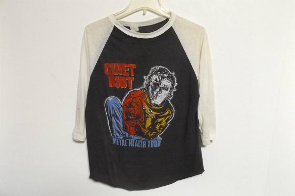 N0269:当時物QUIET RIOT(クワイエット・ライオット)METAL HEALTH TOUR 83-84ラグラン7分丈Tシャツ:35