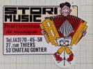 フランスのステッカー:STORI MUSIC アコーディオン 奏者 ビンテージ Ed