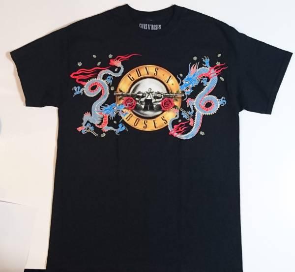 新品 未使用 ガンズアンドローゼズ(GUNS N' ROSES)埼玉28日限定Tシャツ「DRAGON28thTOKYO」Mサイズ ライブグッズの画像