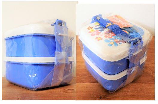 ディズニー リロ&スティッチ ランチボックス 弁当箱 2段 新品 未使用 ハワイ 子供用 遠足 ランチ キャラ弁 フラガール