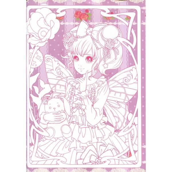 9787518026203 花の妖精 可愛いお姫様 大人の塗り絵 美少女塗り絵 萌え塗り絵 _画像3