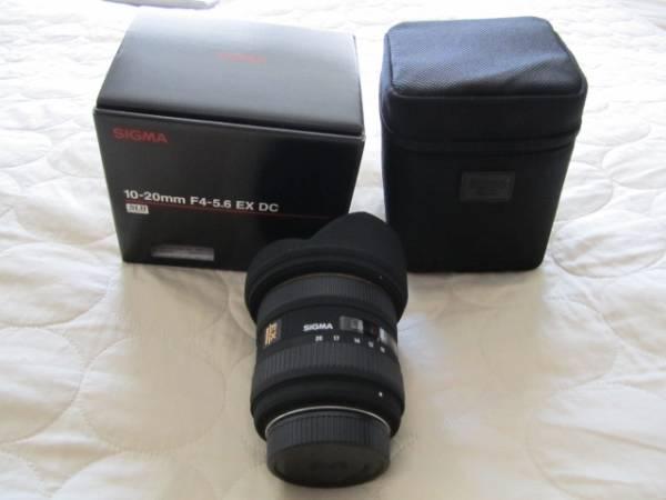 超美品シグマ 広角レンズ10-20mm F4-5.6 EX DC (ニコン対応)