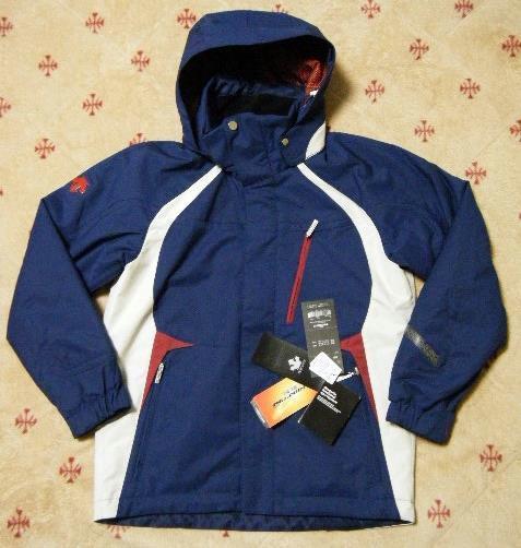 デサント DESCENTE HEAT-NAVI スキー用高機能高性能ジャケット 紺色 サイズ S 中綿入り フード付き 保温、2WAYストレッチ機能_画像1