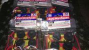 ミニ四駆 限定 大径ローハイトタイヤレッド(カーボンホイール)×5
