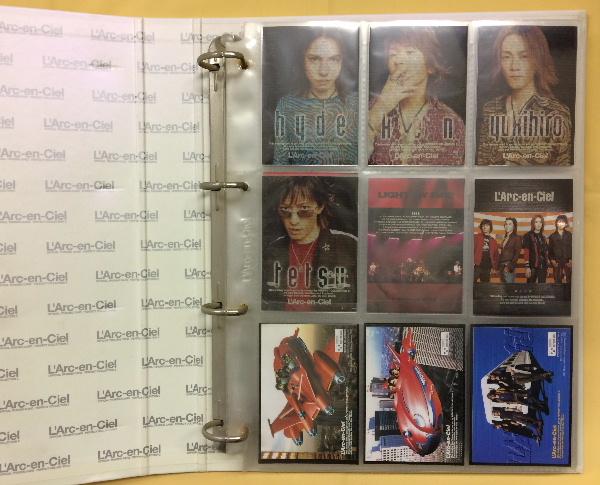 ◆L'Arc-en-Ciel OFFICIAL TRADING CARD 2 133枚+バインダー◆